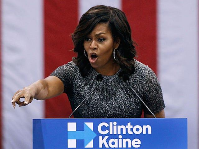Pour la première fois, Michelle Obama se joint à Hillary Clinton pour faire campagne