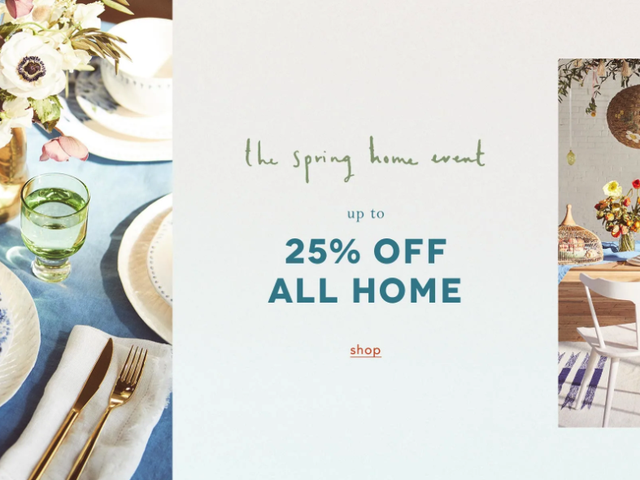 Makeover Your Home With 25% Off Whimsical Furniture and Decor From Anthropologie