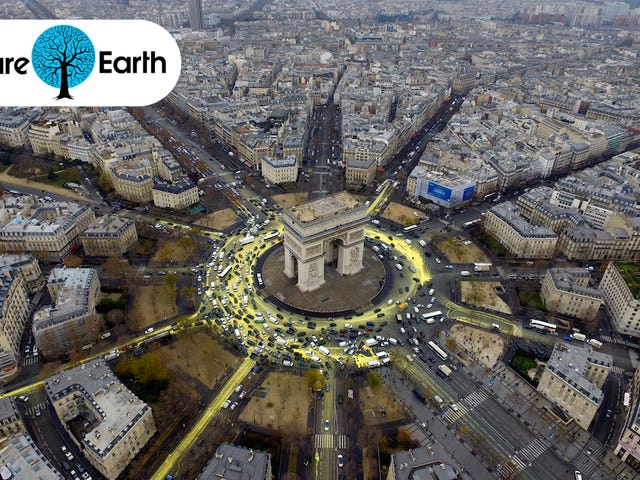 Activists Turned a Busy Paris Roundabout into a Symbol of Hope for the Planet
