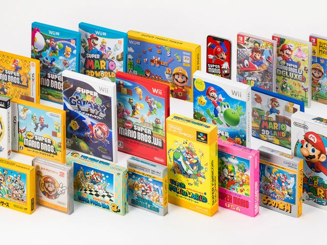 Every Super Mario Game Posing For A Family Photo