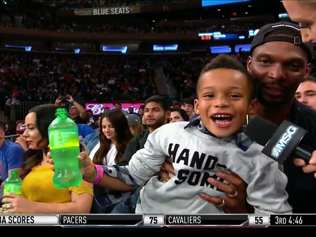 Chris Bosh's Teeny Son Has Yet To Learn The Way Of The Baller
