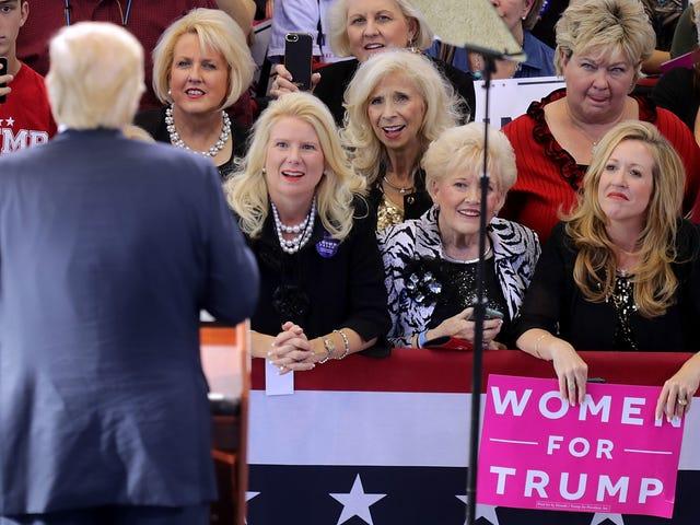 Порожня надія виборця приміської білої жінки