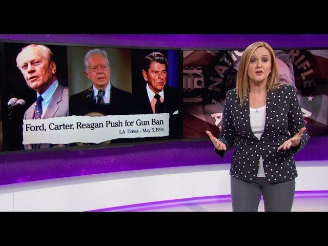 Samantha Bee Poëtisch knijpt de 'Partij van Lincoln', die 'vreedzaam over de natuurlijke oorzaken stierf'