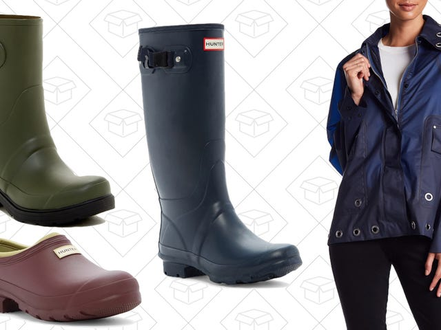 Don't Be Scared To Make a Splash In These Discounted Hunter Boots