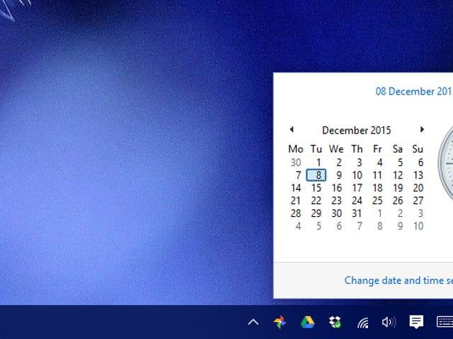 Ramener l'horloge classique dans Windows 10