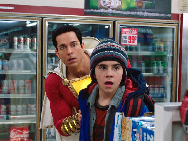 Shazam! zaps an old-fashioned superhero into a blockbuster world