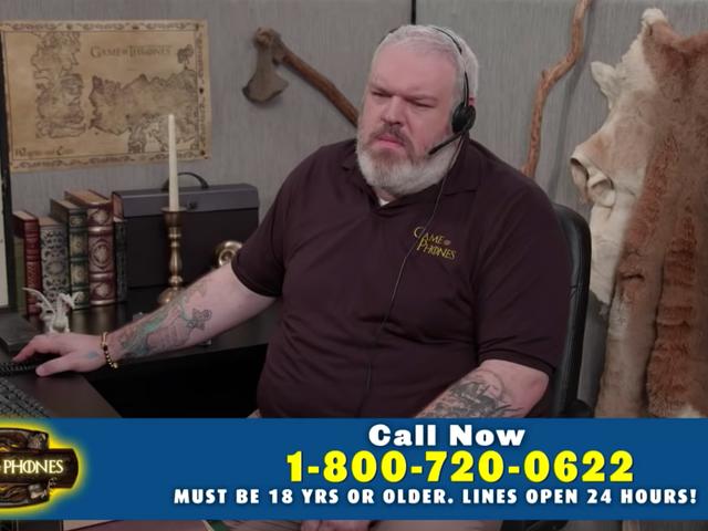 Hodor returns to man the <i>Game Of Thrones</i> emergency hotline