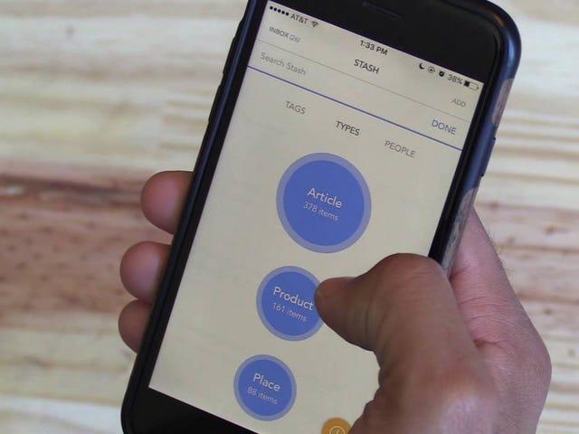 O Stash é uma ferramenta de bookmarking com organização automática, lembretes e muito mais