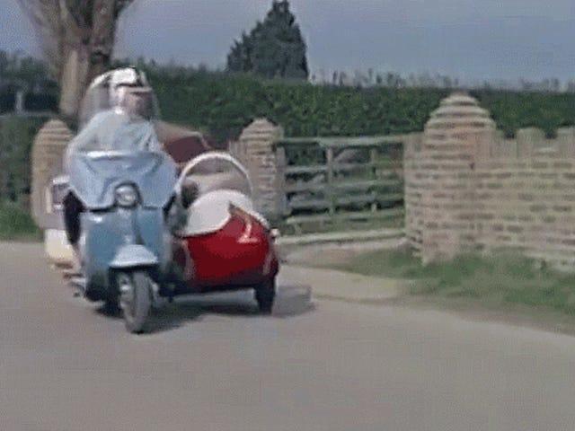 このスクーターはあなたが必要とするすべての牽引力を持っているのでトラックを捨てます