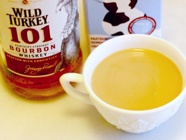 "3-Ingredient Happy Hour: A Bourbon-y Eggnog ""Latte"""