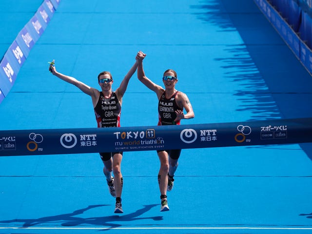 Winning Triathletes DQ'd From Olympic Test Event For Crossing Finish Line Hand-In-Hand