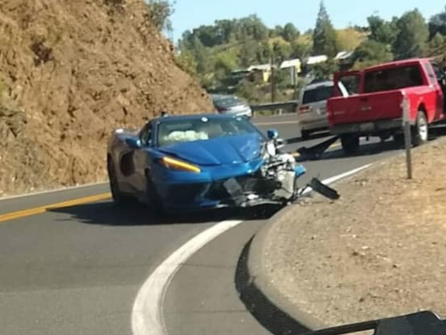 This Looks Like The First Public C8 Corvette Crash