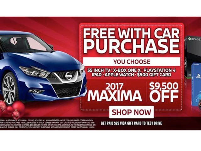 Reminder: Dealers Don't Actually Give You 'Free' Gifts With Your Car Purchase