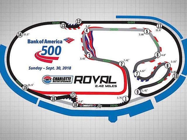 Aquí está el diseño de la primera carrera de NASCAR en el campo de postemporada