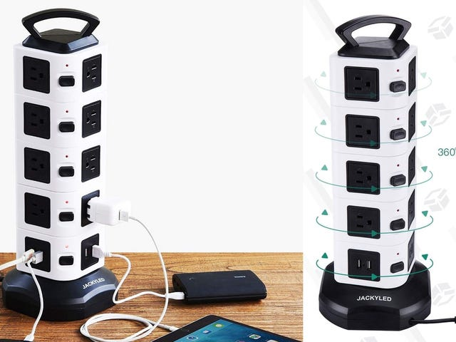 Plug In All of the Things With This $24 Power Tower