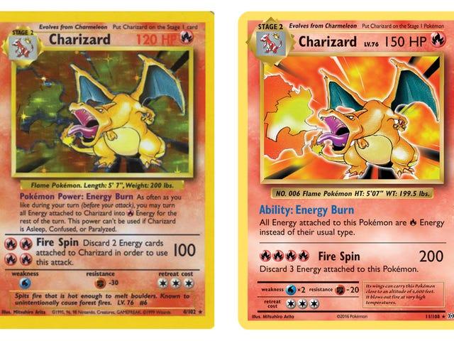 La carta de Pokémon de Charizard se está reforzando