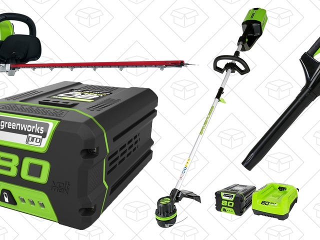 Don't Miss These Seriously Massive Discounts On GreenWorks 80V Lawn Tools