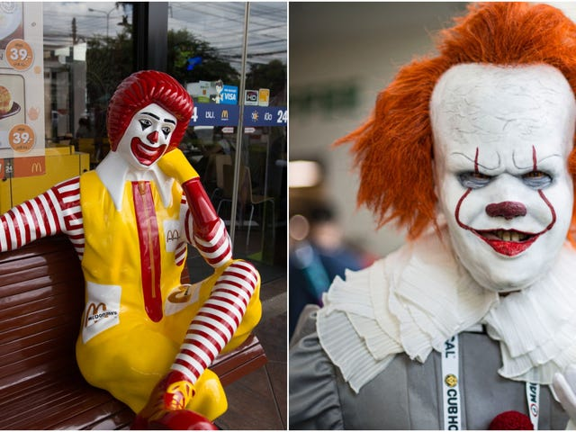 German Burger King ad banks on customer confusion between Ronald McDonald and Pennywise