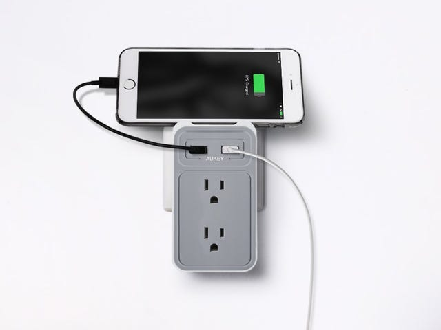Add USB Ports To Your Power Outlets, No Wiring Required
