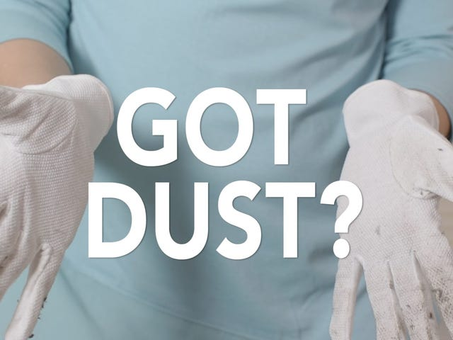 Støv Delikate og svært tilgængelige stænger i dit hjem med bomuldshandsker