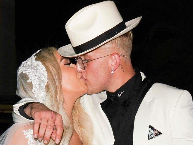 Of Course Jake Paul and Tana Mongeau's Possibly Fake Wedding Ended in a Champagne-Induced Fistfight