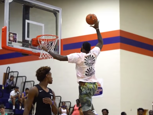 LeBron James Loses His Mind And His Shoe At Bronny's AAU Games