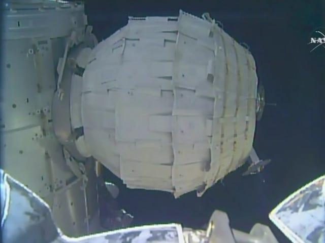 NASA cuối cùng phồng lên nhà không gian mới của nó sau khi cố gắng bị hỏng