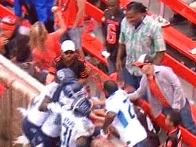 Cleveland Browns Ban Wrong Guy stadionilta olutta valavaan tapahtumaan