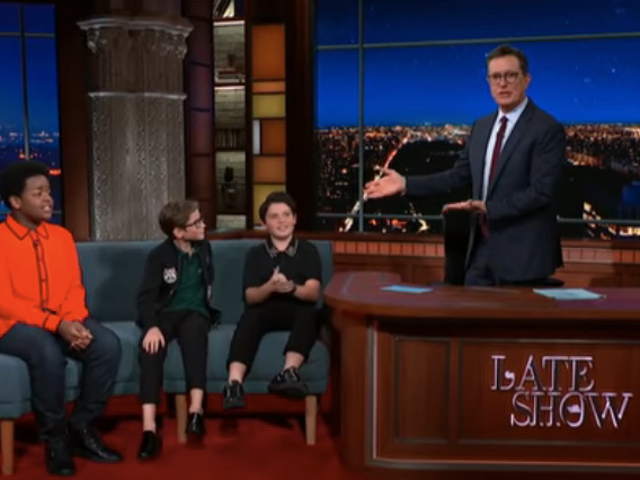 Stephen Colbert quizzes the cast of Good Boys, who, indeed, seem like very good boys
