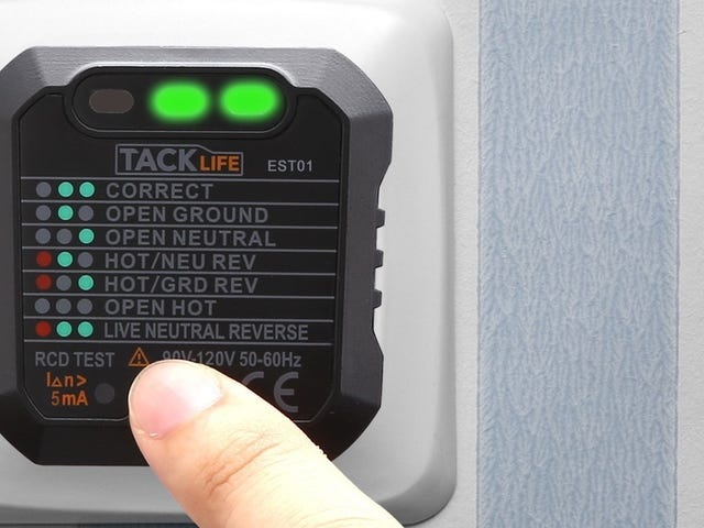 Avoid Any Shocking Surprises With This $5 Outlet Tester