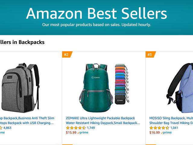 Поиск списков бестселлеров Amazon на этом сайте