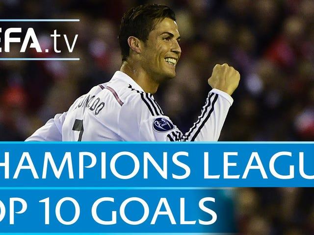 Aquí están los 10 mejores goles de la Champions League esta temporada