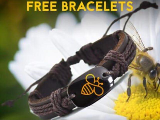 Ofertas de hoy en las pulseras de cuero de la nueva abeja encantadora LLEGADA GRATIS