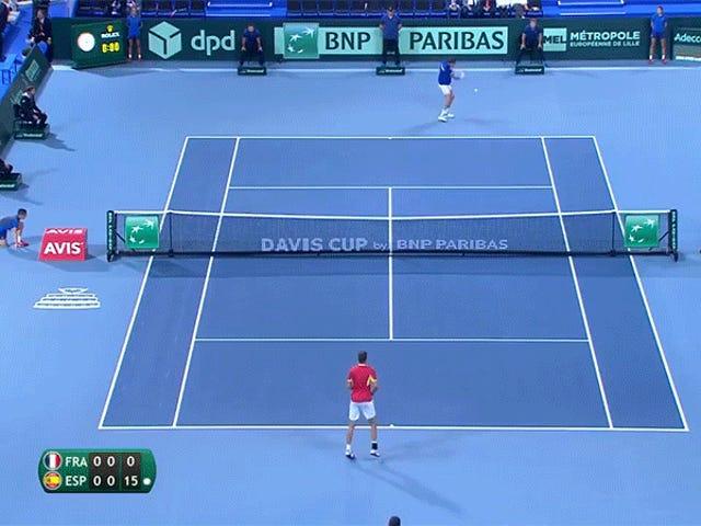 แรลลี่ 84 ช็อตที่เดวิสคัพคือ Tennis Hell