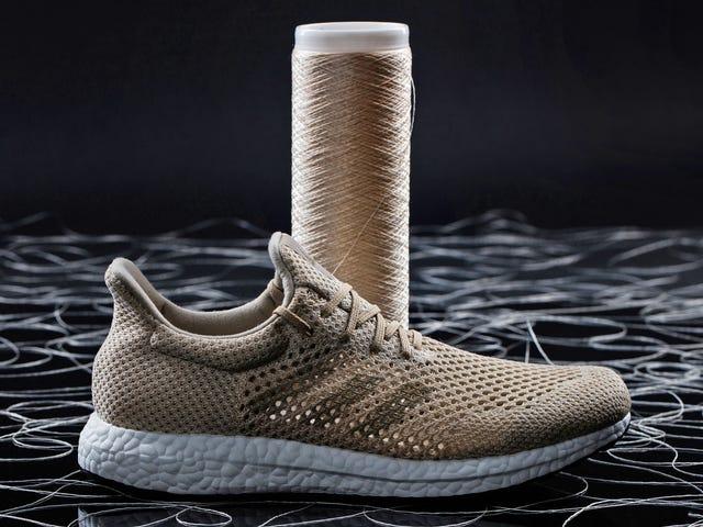 Adidas nye biologisk nedbrydelige sneakers er fremstillet af ultra-stærk kunstig silkefibre