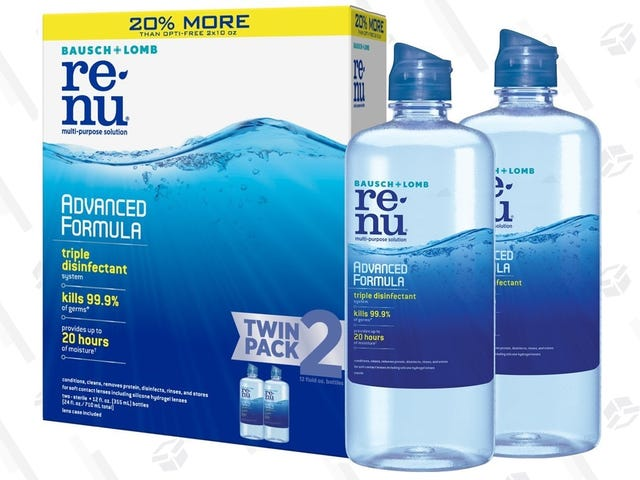 Running Out of Contact Solution Is Hell, So Stock Up With Two Bottles For $9