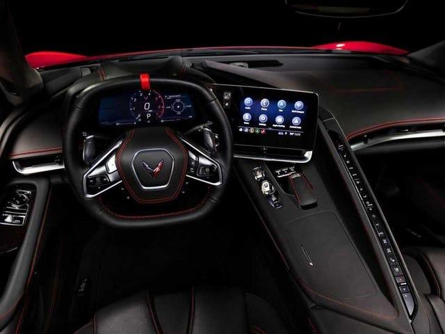 O 2020 Corvette Interior: Isso é um monte de botões