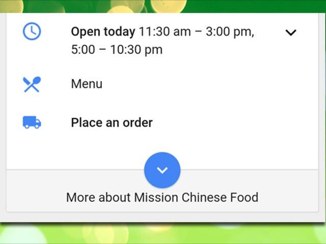 Placer fødevarer ordrer fra leveringstjenester lige fra Google