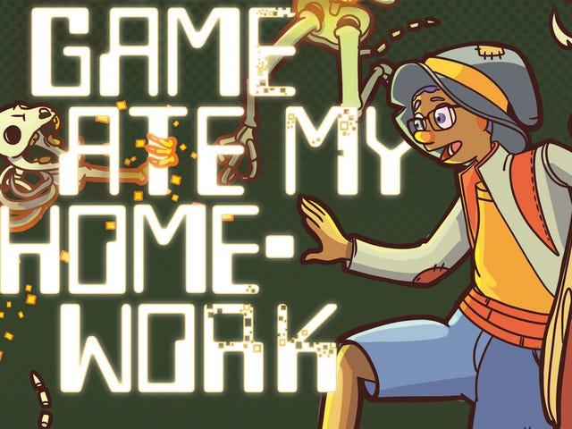 Mon jeu vidéo a mangé mes devoirs est un doux roman graphique sur les jeux et la croissance