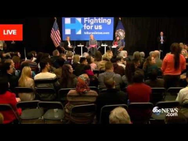 Kvinna till Hillary Clinton: Anser de kvinnor som anklagade din man för att tro på våldtäktsoffer?