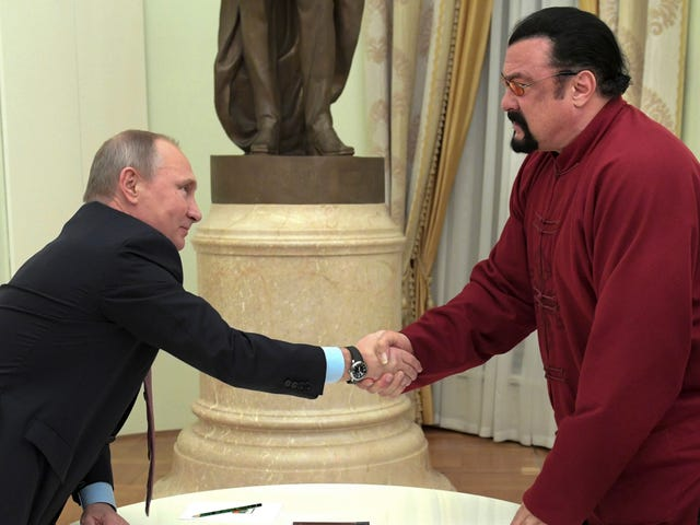 Today on the Dumbest Timeline: Steven Seagal Picked to 'Improve' Russian & U.S. Relations