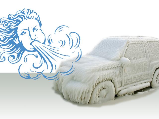 風の寒さが車に与える影響