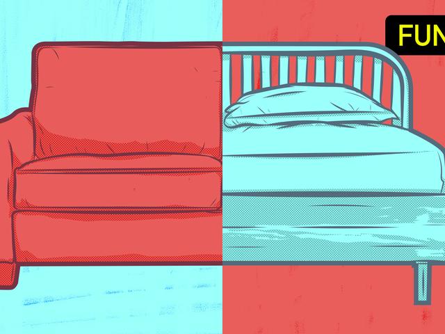 ベッドナップまたはソファのナップ:WHO YA GOT ?!