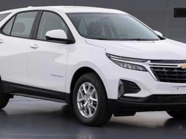 El lavado de cara Chevrolet Equinox 2021 filtrado no repara nada