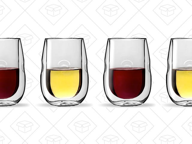 Sip Your Wine Out of These Double-Walled Insulated Glasses For $24