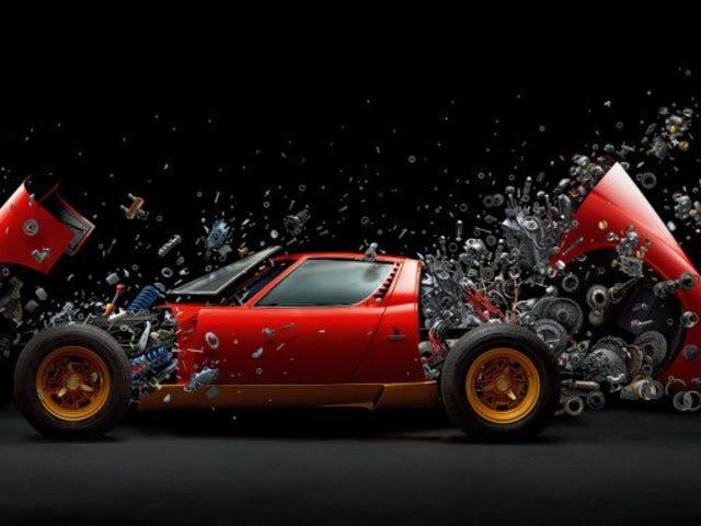 Cómo se hizo esta impresionante imagen real de un Lamborghini Miura de 2 millones de dólares desintegrándose