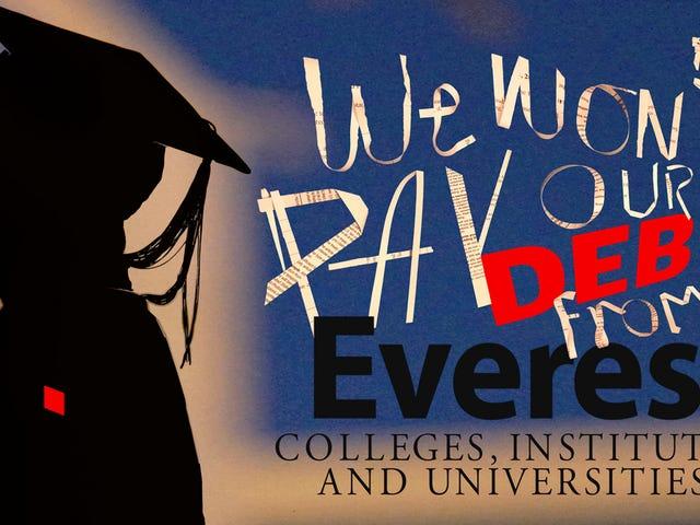 Altri studenti che si rifiutano di pagare i debiti ipotecari ai college online fraudolenti
