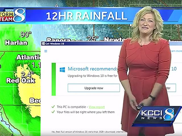 La mejor muestra de los absurdos avisos para realizar Windows es este parte meteorológico