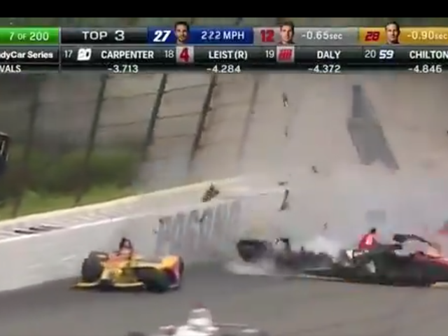 Terrifying IndyCar Crash Stops Race At Pocono [Updated]