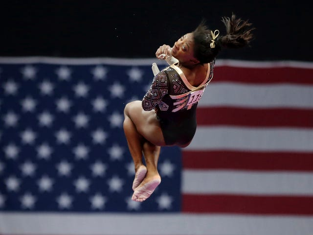 Here Are Some Videos Of Simone Biles Dominating At The National Championships